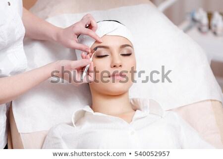 クローズアップ · 肖像 · 少女 · 顔 · デザイン · 髪 - ストックフォト © lordalea