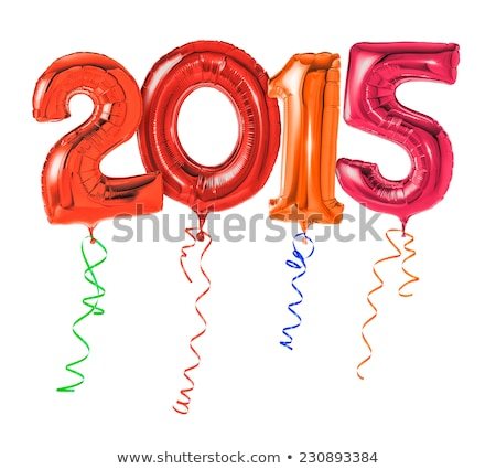 Red balloons with ribbon - Number 2015 Stock photo © Zerbor