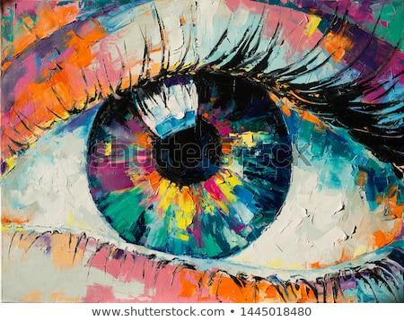 streszczenie · oczy · nowoczesne · ilustracja · łatwe · niebieski - zdjęcia stock © DzoniBeCool