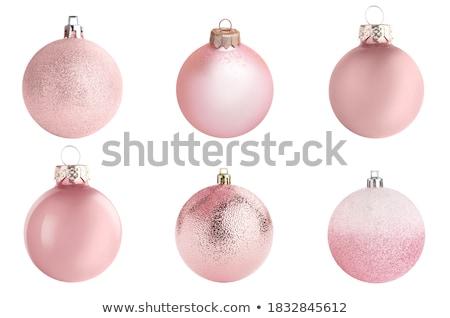 różowy · christmas · dekoracje · ozdoby · pasiasty - zdjęcia stock © paulfleet
