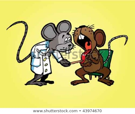 Doctor mouse examining the throat of a patient. Stock photo © HennieV