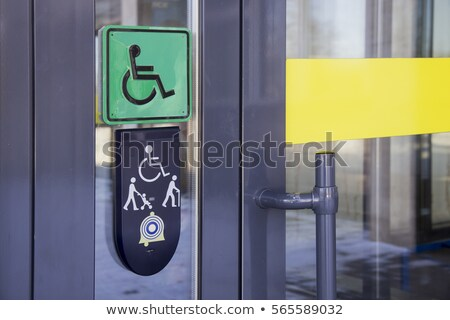 Niepełnosprawnych ikona srebrny przycisk człowiek zdrowia Zdjęcia stock © aliaksandra