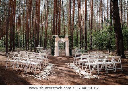 zewnątrz · ceremonia · piękna · kwiaty · Błękitne · niebo - zdjęcia stock © ainat