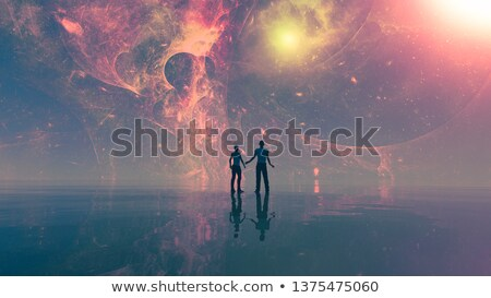 exóticas · mundo · cielo · espacio · azul - foto stock © ankarb