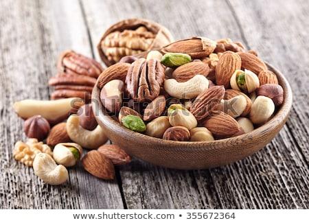 орехи · изолированный · белый · продовольствие · семени · гайка - Сток-фото © foka