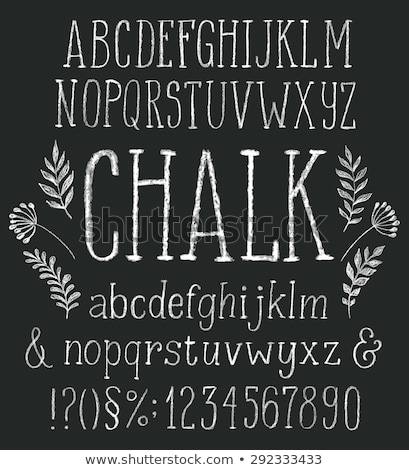 hand written abc letters stock photo © elmiko