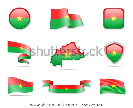 Map on flag button of Burkina Faso Stock photo © Istanbul2009