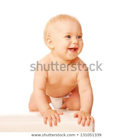 Portrait of crouching baby Stock photo © nyul