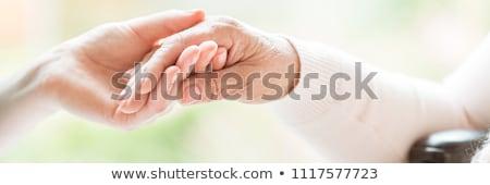 пожилого рук фотография стороны тростник Сток-фото © ocskaymark