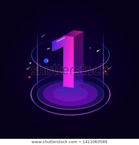 1 Number Vector Purple Web Icon Stock photo © rizwanali3d