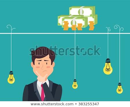 uomo · pensare · soldi · maschio · testa · silhouette - foto d'archivio © Captainzz