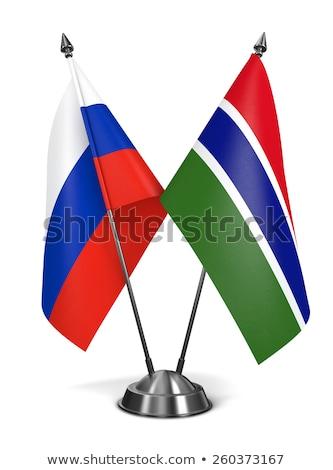 Russia and Gambia - Miniature Flags. Stock photo © tashatuvango