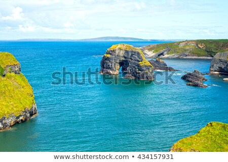 Wild manier maagd rock klif Stockfoto © morrbyte