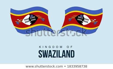 Map on flag button of Kingdom Swaziland Stock photo © Istanbul2009