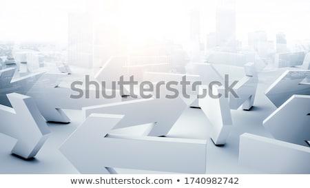labirinto · 3D · rosso · arrow · muro · luce - foto d'archivio © lightsource