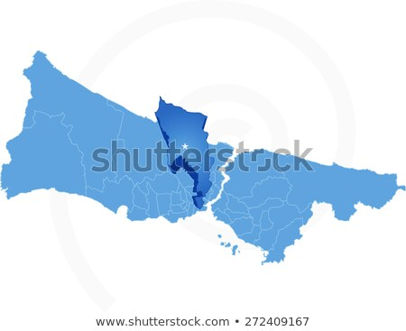 Istanbul Map with administrative districts where Eyup is pulled Stock photo © Istanbul2009