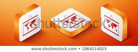 Orange bouton image cartes Australie forme Photo stock © mayboro
