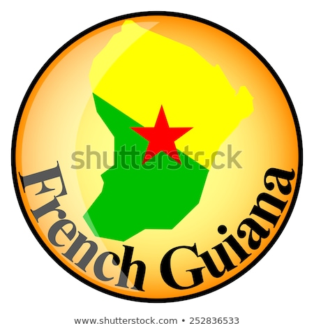 orange button with the image maps of button french guiana stock photo © mayboro