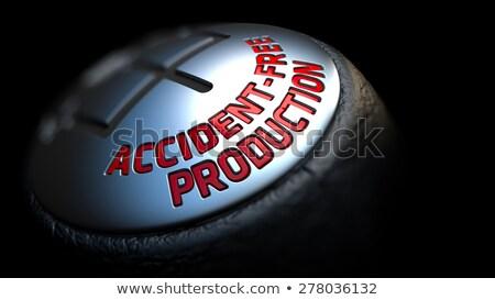 üretim araba vardiya kırmızı metin Stok fotoğraf © tashatuvango