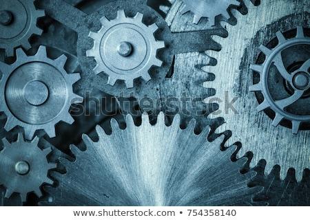 Maquinaria engenharia metal engrenagens preto negócio Foto stock © tashatuvango