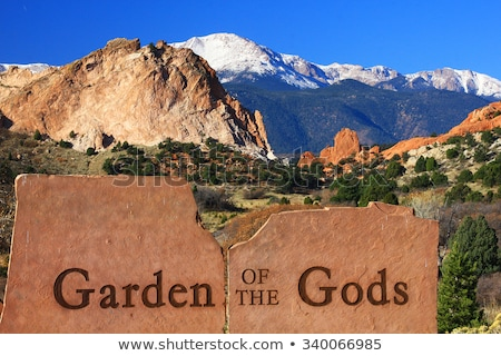 Garden of the Gods sign in Colorado Springs Stock photo © AndreyKr