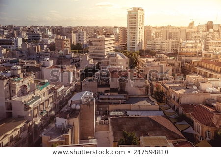 aerial view of southern part of nicosia cyprus stock photo © kirill_m