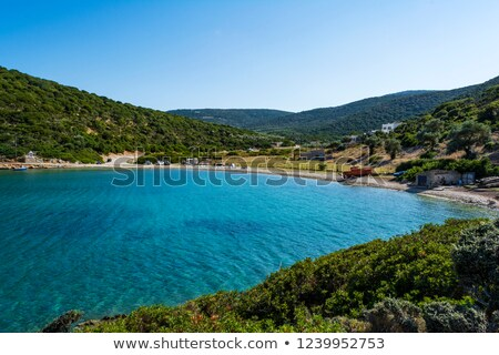 abandoned fishing trawler on beach alonissos greece stock photo © ankarb