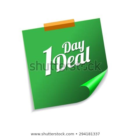hafta · anlaşma · yeşil · vektör · ikon - stok fotoğraf © rizwanali3d