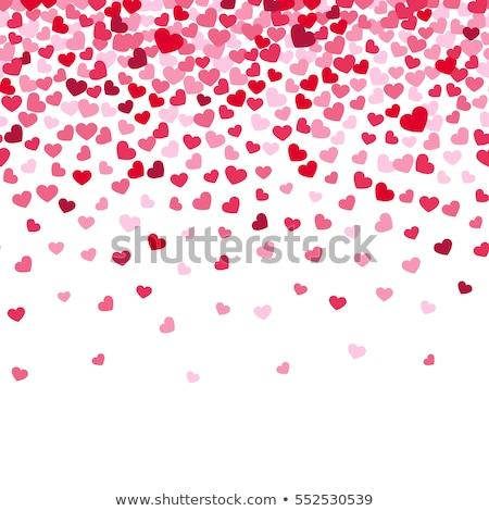 egyszerű · rózsaszín · piros · szívek · valentin · nap · absztrakt - stock fotó © boroda