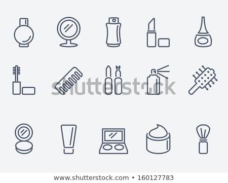 Perfume fino linha ícone teia móvel Foto stock © RAStudio