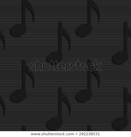 müzik · notaları · doku · notlar · yalıtılmış · beyaz · vektör - stok fotoğraf © zebra-finch