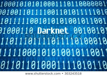 Código binario palabra centro seguridad red ciencia Foto stock © Zerbor
