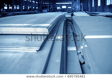 steel plate on conveyor Stock photo © mady70