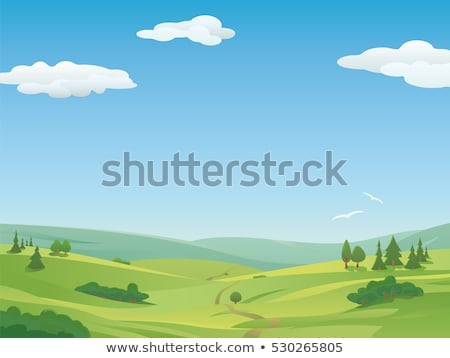 landscape of colorful hills springtime beautiful day stock photo © taiga
