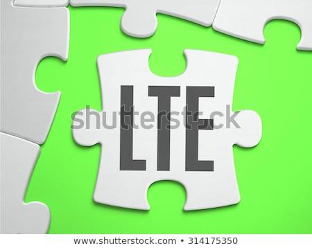 LTE - Jigsaw Puzzle with Missing Pieces. Stock photo © tashatuvango