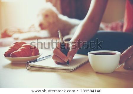 Geribesleme büro kahve iş kâğıt arka plan Stok fotoğraf © fuzzbones0