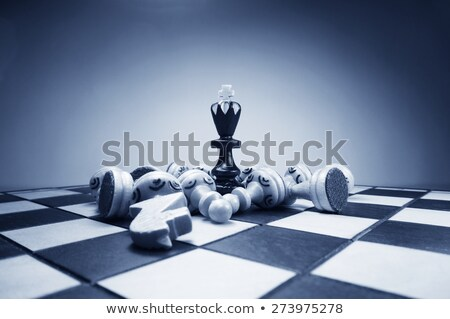xadrez · foco · esportes · equipe · escuro · branco - foto stock © creisinger