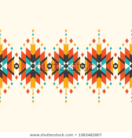 Stock photo: geometric seamless pattern in Native Americans