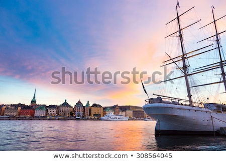 kare · Stockholm · İsveç · gökyüzü · Bina · kentsel - stok fotoğraf © kasto
