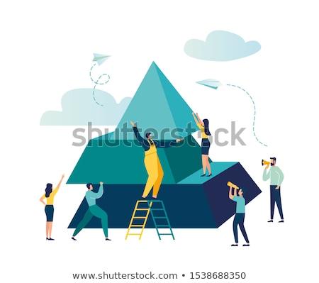 Pirâmide homens estilo imagem humanismo Foto stock © xochicalco