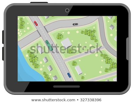 mappa · guida · indicazioni · top · view · illustrazione - foto d'archivio © orensila