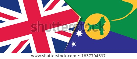 Stock photo: United Kingdom and Christmas Island Flags