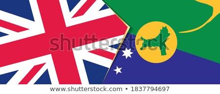 united kingdom and christmas island flags stock photo © istanbul2009