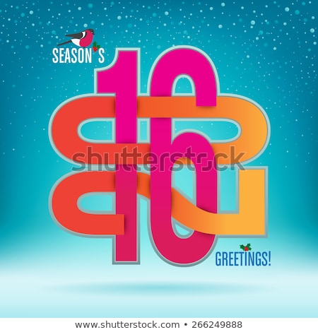 Hot new 2016 year banner, vector illustration Stock photo © carodi