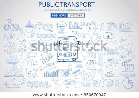 Public Transports concept wih Doodle design style Stock photo © DavidArts