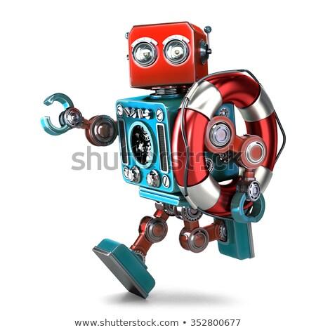 robô · resgatar · metáfora · isolado · branco · negócio - foto stock © kirill_m