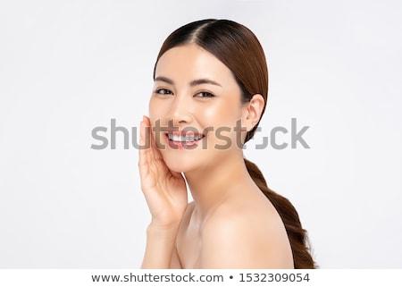 asiático · modelo · brilhante · make-up · imagem · atraente - foto stock © magann