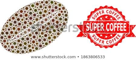 Kwaliteit Rood zegel vector icon label Stockfoto © rizwanali3d