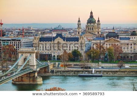 Budapeszt bazylika Węgry budynku kościoła rzeki Zdjęcia stock © AndreyKr