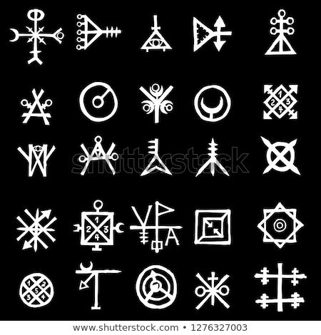 Wiccan symbol, Triple Goddess with sigil of Lucifer  Stock photo © shawlinmohd